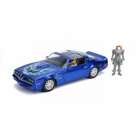 "PONTIAC FIREBIRD 1977 ""PENNYWISE & ZOMBIE"" AVEC FIGURINES PENNYWISE & ZOMBIE"