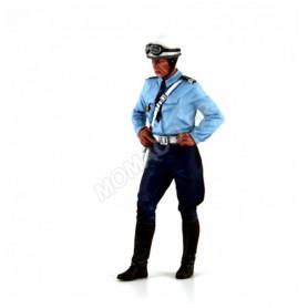 FIGURINE POLICIER MOTOCYCLISTE DES ANNEES 1975-1980 : MICHEL