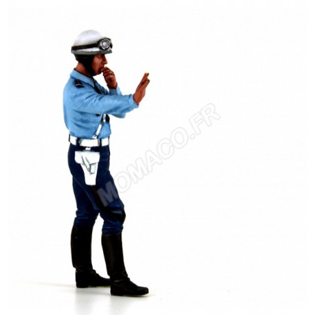 FIGURINE POLICIER MOTOCYCLISTE DES ANNEES 1975-1980 : PAUL