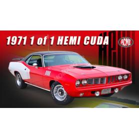 PLYMOUTH HEMI CUDA 1971 ROUGE