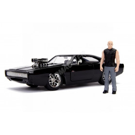 """DODGE CHARGER (STREET) 1970 """"FAST AND FURIOUS"""" AVEC FIGURINE DOM TORETTO (JADA253205000)"""