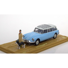 CITROEN DS ID 19 BREAK AVEC FIGURINES