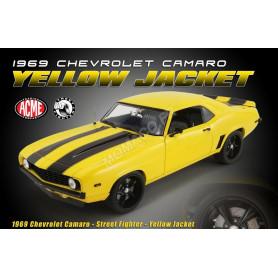 """CHEVROLET CAMARO Z28 """"STREET FIGHTER"""" 1969 JAUNE"""