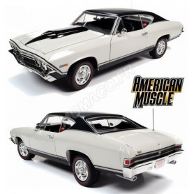 CHEVROLET CHEVELLE SS HARDTOP NICKEY 1969 BLANC
