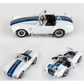 SHELBY AC COBRA 427 S/C 1965 BLANCHE BANDES BLEUES