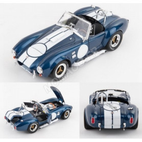 SHELBY AC COBRA 427 S/C 1965 BLEUE BANDES BLANCHES