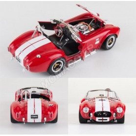 SHELBY AC COBRA 427 S/C 1965 ROUGE BANDES BLANCHES