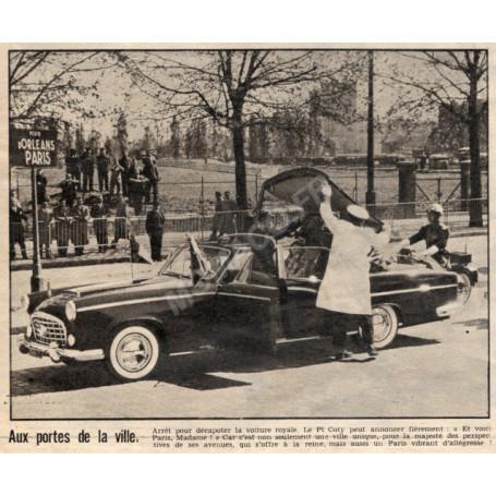 "CITROEN 15-6 H LANDAULET CHAPRON 1956 ""PRESIDENTIELLE - RENE COTY ET CHARLES DE GAULLE"""
