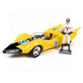 "SPEED RACER 9 ""THE SHOOTING STAR"" 1966 AVEC FIGURINE REX RACER"
