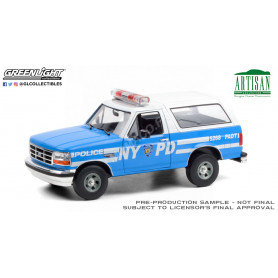 """FORD BRONCO 1992 """"NEW YORK POLICE DEPARTMENT"""" (NYPD) (EPUISE)"""