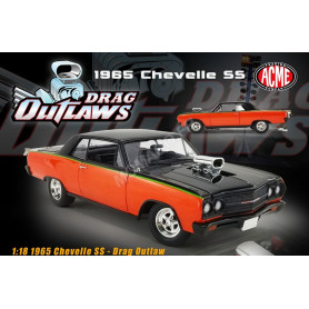 CHEVROLET CHEVELLE SS DRAG OUTLAW 1965 ORANGE/NOIRE