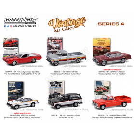 COFFRET 6 VINTAGE AD CARS - SERIES 4