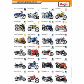 "DISPLAY DE 24 PIECES : MOTOS ""WHEELER"""
