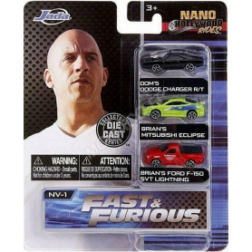 "SET 3 VOITURES ""FAST AND FURIOUS"""