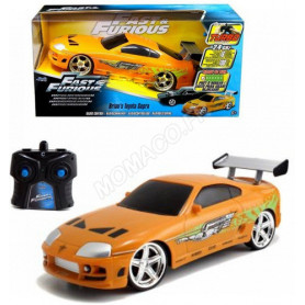 "TOYOTA SUPRA 1995 ""FAST AND FURIOUS"" ORANGE - RADIOCOMMANDE"
