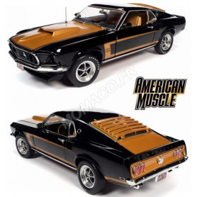 FORD MUSTANG FASTBACK 1969 NOIRE/OR