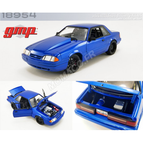 """FORD MUSTANG 5.0 LX SUPERCHARGED """"STREET FIGHTER"""" 1990 BLEUE"""