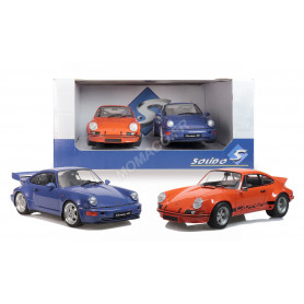 PACK PORSCHE 911 RSR ORANGE ET 964 RS BLEU MARITIME