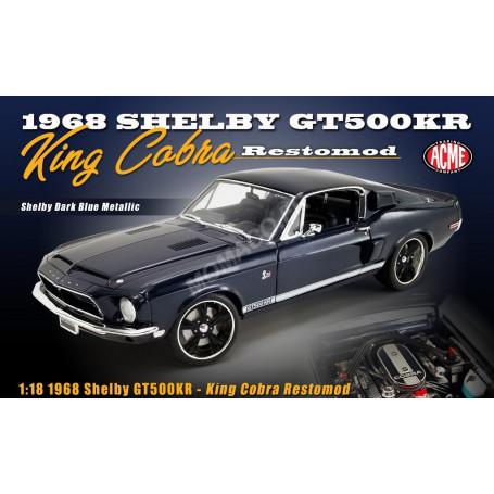 FORD MUSTANG GT500 KR KING COBRA 1968 BLEUE