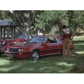 """FORD MUSTANG 1979 """"CHARLIE'S ANGELS (1976-1981)"""" ROUGE"""