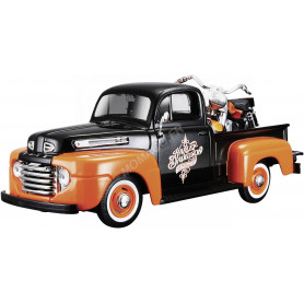 """FORD F-1 PICK-UP """"HARLEY DAVIDSON"""" AVEC MOTO FLH DUO GLIDE 1958"""