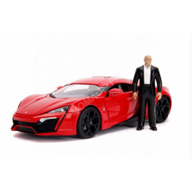 """LYKAN HYPERSPORT W MOTORS """"FAST AND FURIOUS"""" AVEC FIGURINE DOM ET LUMIERES"""