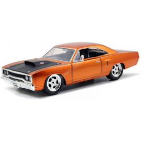 """PLYMOUTH ROAD RUNNER 1970 """"FAST AND FURIOUS 7 (2015) - DOM"""" ORANGE"""