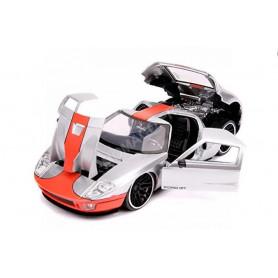 FORD GT 2005 ARGENT/ORANGE