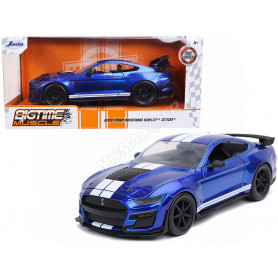 FORD MUSTANG SHELBY GT500 2020 BLEUE BANDES BLANCHES