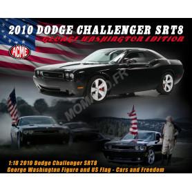 """DODGE CHALLENGER SRT8 2010 NOIRE """"EDITION AVEC FIGURINE GEORGE WASHINGTON ET DRAPEAU US"""""""