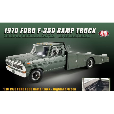 """FORD F-350 CAMION PLATEAU 1970 """"HIGHLAND GREEN"""""""