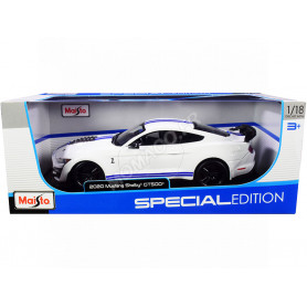 FORD MUSTANG SHELBY GT500 BLANC/BLEUE
