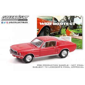 """FORD MUSTANG 1968 """"WIDE BOOTS GT"""" ROUGE"""