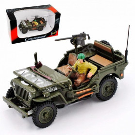 JEEP WILLYS US ARMY AVEC PERSONNAGE