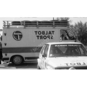 """CITROEN C35 ASSISTANCE EQUIPE """"TALBOT SPORT"""" AVEC BARRES DE TOIT ET ROUES 1981"""