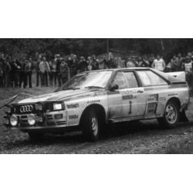 AUDI QUATTRO A1 1 MIKKOLA/HERTZ RALLYE RAC 1982