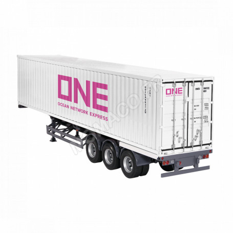 """REMORQUE CHN US AVEC CONTAINER 40FT ONE"""" BLANC"""