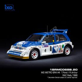 MG METRO 6R4 4 POND/ARTHUR RALLYE RAC 1986